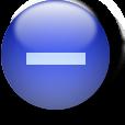 Icon blue minus sign